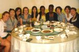 Kayan Hales '14 eats a meal with other students on study abroad in China. Courtesy of Kayan Hales' CET academic programs blog.