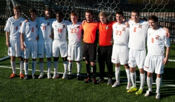 Men's Soccer seniors. Photo By Thomas Morris